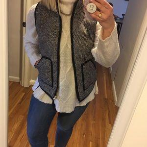 Popular J.Crew herringbone print puffer vest